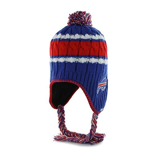 (NFL Buffalo Bills Women's '47 Brand McKenzie Sherpa Knit Hat with Pom, Sonic Blue)