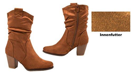 Elara - Botas De Vaquero Mujer marrón claro