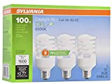 LEDVANCE 26352 Sylvania CFL Light Bulb, 6500K, 3