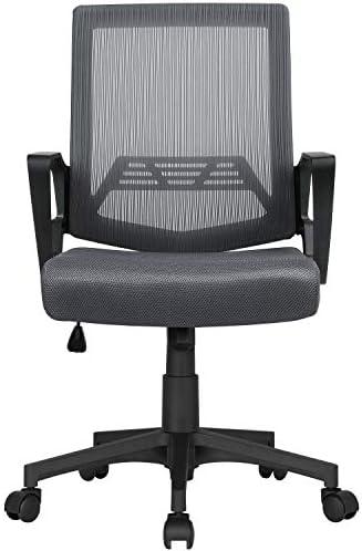 YAHEETECH Ergonomic Computer Chair Mesh Chair Desk Chair