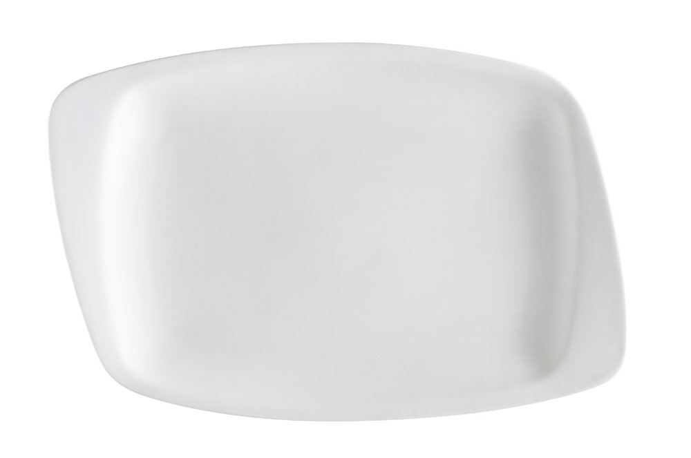 CAC China WH-61 White Pearl 15-1/4-Inch by 10-3/4-Inch by 1-Inch New Bone White Porcelain Rectangular Platter, Box of 12