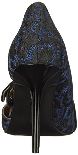 Bomba de Nine West Janice vestido de tela Blue/Black/Black