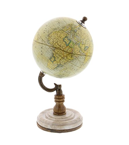 Deco 79 94473 Matted Marble and Mango Wood Globe, 10