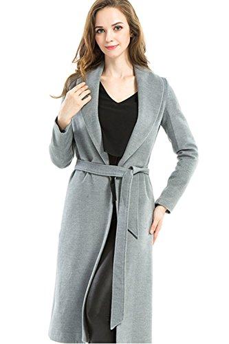 Manches longues costume collier occasionnels Trench-Coat femmes avec ceinture