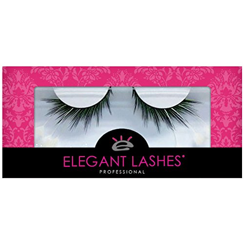 Elegant Lashes F157 Premium Green Blue Black White Feather False Eyelashes Halloween Dance Rave -