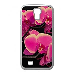 Beautiful Pink Orchid Watercolor style Cover Samsung Galaxy S4 I9500 Case (Flowers Watercolor style Cover Samsung Galaxy S4 I9500 Case)