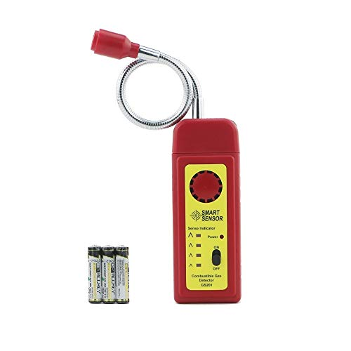 Combustible Gas Detector,Gas Detector Alarm, Portable Natural Gas Tester Detector/Propane Methane Gas Sensor, Combustible Gas Sniffer with Sound Warning, Adjustable Sensitivity and Flex Probe.