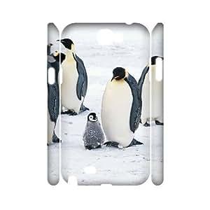 ALI Hard Penguin 3D Diy For SamSung Note 4 Case Cover [Pattern-1]