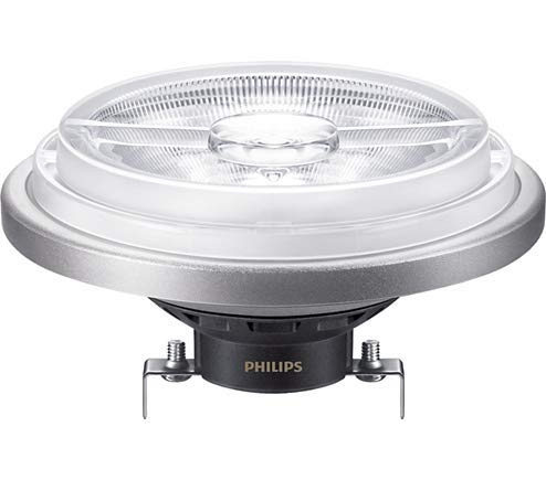 (10-Pack) Philips 458562 20W 12V LED AR111 GX53 15 degree Spot 3000K Light Bulb