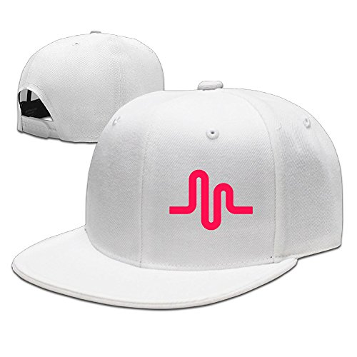 Price comparison product image Karoda Hot Music LY Cen Flat Brim Baseball Caps Hip Hop Hat White