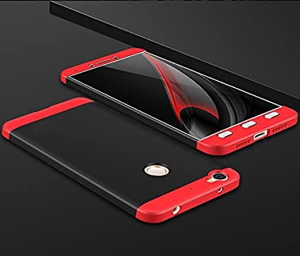 the best attitude eec0a f7420 nKarta Letv 1s Back Cover Case 360 Degree Protection Phone Cases 3-in-1  Hybrid Hard PC - Black/Red
