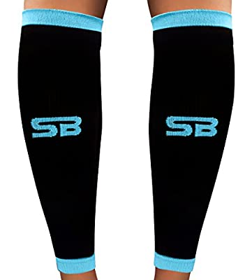 SB SOX Compression Calf Sleeves (20-30mmHg) for Men & Women - Perfect Option to Our Compression Socks - For Running, Shin Splint, Medical, Travel, Nursing, Cycling, and Leg Pain