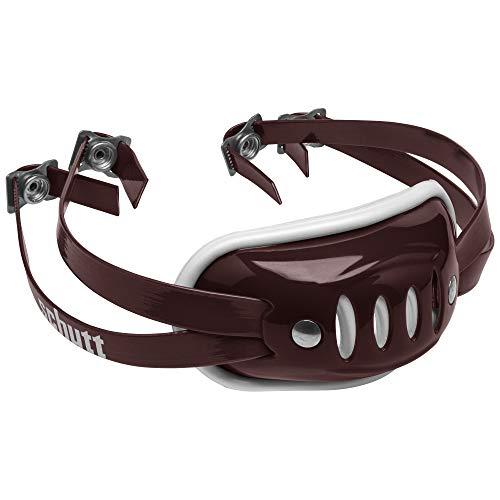 Schutt Sports SC-4 Hard Cup Chinstrap for Football Helmet, Maroon, Youth