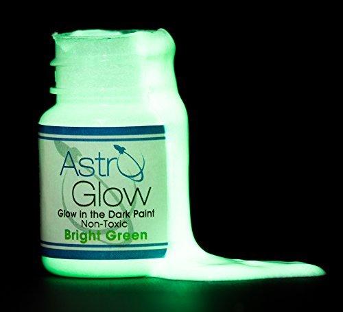 Astro Glow Non-Toxic Glow in the Dark Paint, Light Green, .54 fl....