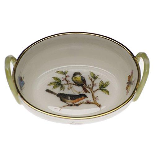 Herend Rothschild Bird Basket With - Herend Rothschild Bird