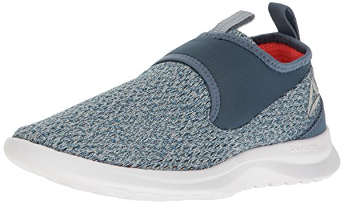 Reebok Women's DMX Lite Slip Walking Shoe, Multi Gable Grey/Brave Blue/Vitamin C/White/Matte Silver
