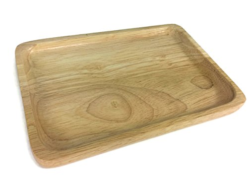 Gratnell Trays (5 x 7 Inch Food Tray Wooden Utensil Natural Rubber Wood Serving Tray Small Wooden Serving Bowl Restaurant Wooden Handcraft Serving)