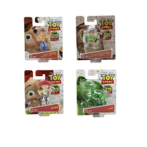 Disney Pixar Toy Story Buddy 20th Anniversary Collection Set of 4 Mini Figures - Buzz Lightyear, Woddy, Jessie & Rex ()