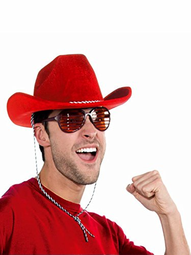 - Forum Novelties 71477F Red Cowboy Deluxe Hat