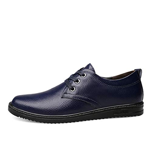 Primavera Nero Blu Men's tondo cravatta Estate Business EU scarpe 43 Nuovo testa Dimensione Oxford Casual stile formali shoes 2018 semplice Color Fang classico UwxSnBIEq7