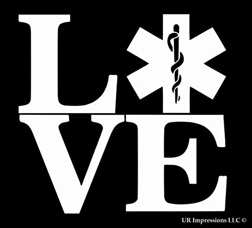 Love EMT Paramadic Decal Vinyl Sticker|Cars Trucks Walls Laptop|WHITE|5.5 (National Costumes Coloring Pages)