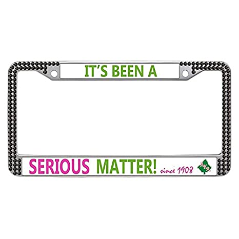 Custom License Plate Covers >> Amazon Com Alpha Kappa Alpha License Plate Frame Custom
