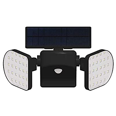 YULAMP Solar Motion Sensor Spotlight,56 LED Adjustable Solar Dual Head Motion Sensor Light Waterproof Solar Security Lights for Yard Garden Garage Patio Garage Porch