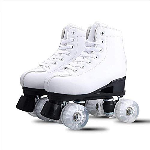 Zapatos De Polea De Doble Hilera De Cuatro Ruedas, Patines para Deportes Al Aire Libre, Zapatos De Deformación De Moda Simple por Snow Wolf