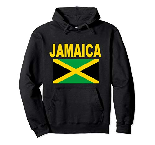Flag Jamaica Pullover Hoodie Jamaican Flags Travel Gift Top ()