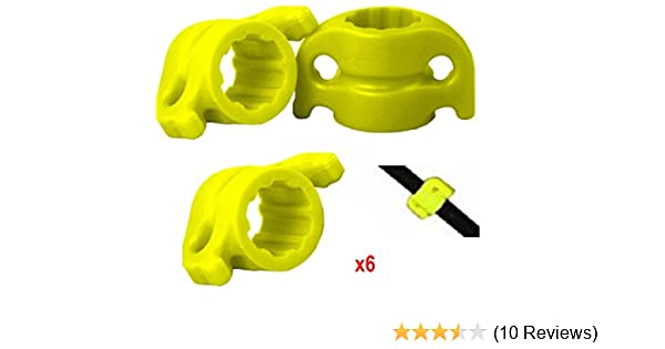 Yellow 5//16-inch BOWTACTIX Bowfishing Arrows Safety Slides Pack of 6