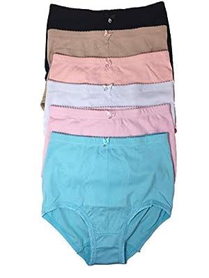 Tummy Control Panties Girdles for Women Plus Size Control Briefs Underwear 6-Pack