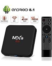 Android TV Box 8.1, Superpow Smart TV Box Quad Core 2 GB di RAM + 16 GB di ROM, 4K * 2 K UHD H.265, HDMI, USB * 2, WiFi Media Player, Set-Top Box Android con controllo vocale remoto