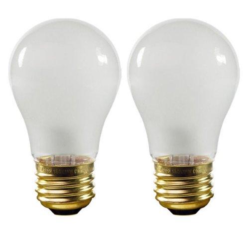 Satco S3949 - 15 Watt - A15 - Frost - Appliance Bulb - 2,500 Life Hours - 100 Lumens - 130 Volt - 2 Pack