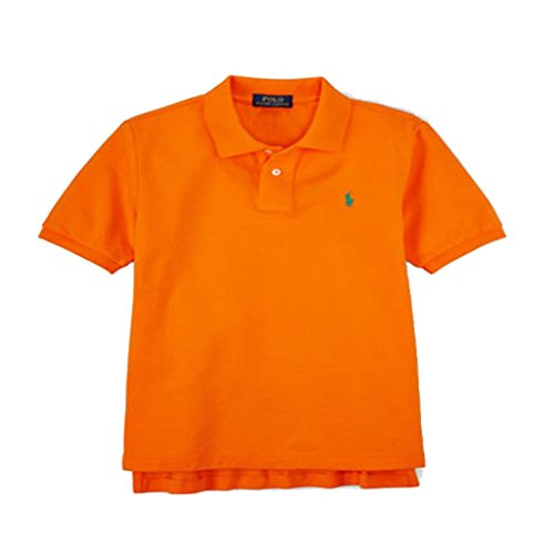 Ralph Lauren Childrenswear Cotton Mesh Polo Shirt-BRIGHT ORANGE-Large