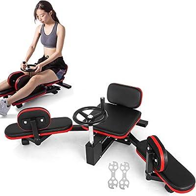 Popsport Pro Leg Stretcher 330LBS Leg Stretch Machine Heavy Duty Steel Frame Leg Stretcher Training Fitness Equipment Leg Stretcher for Home Gym