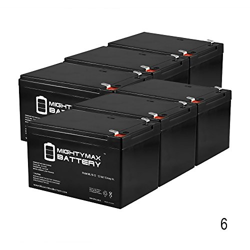 12V 15AH SLA Replacement Battery for Freedom 943 Scooter - 6 Pack - Mighty Max Battery brand product by Mighty Max Battery