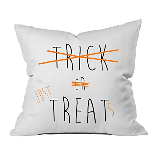 Oh, Susannah Trick or Just Treats Throw Pillow Cover (1 18X 18 inch, Black, Orange) Halloween Decorations