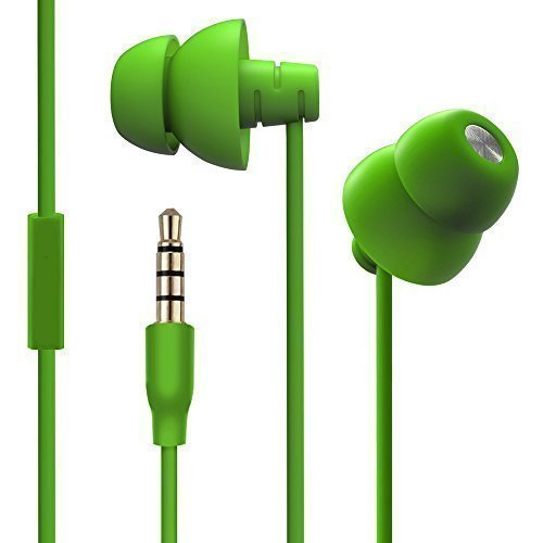 Maxrock (Tm) Sleep-Hit Soft Earbuds Total Silicon Headphones with in-line Mic for Cellphones, Mp3, Tablet 3.5 Mm