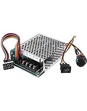 DC Motor Speed Controller, PWM 10-55V 12V 24V 36V 48V 60A, Stepless DC Motor Speed Controller with switch function and LED Display (1 PCS)