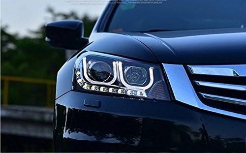 GOWE car Styling Head lamp for Honda Accord 2008-2013 LED Headlight DRL H7/D2H HID Xenon bi xenon lens Color Temperature:6000K;Wattage:55K 0