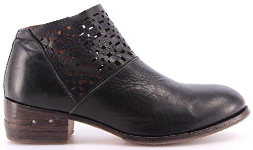 Moma Enkellaars Dames Schoenen Enkellaarsjes 32703-ta Toscana Nero Zwarte Ita Nieuwe