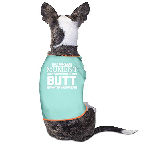 Moments Rub - Richard Lyons Fashion Sleeveless Pet Supplies Dog Cat Clothes That Awkward Moment When Mom Sniffs Your Butt Pet Apparel Clothing S SkyBlue