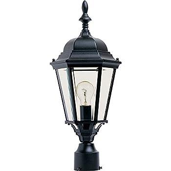 Maxim 1005BK, Westlake Cast Aluminum Outdoor Post Lighting, 100 Total  Watts, Black
