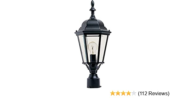 Maxim 1005BK, Westlake Cast Aluminum Post Lamp - 100W Black Outdoor Post  Lighting, Incandescent Post Lantern  Lighting Fixtures