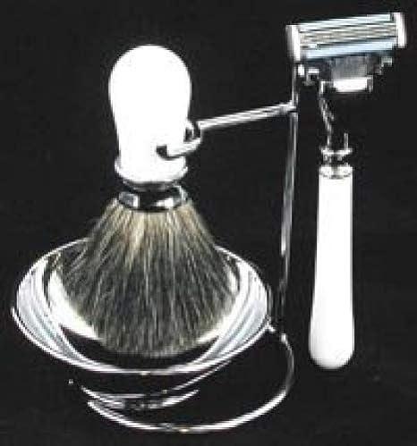 Chichi Gifts Artemis Blanco Set de Afeitado Mach 3 – Maquinilla de ...