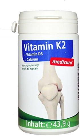 Medicura Vitamin K2 + Vitamin D3 + Calcium - 43.9 g