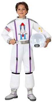 Atosa-16014 Disfraz Astronauta, color blanco, 7 a 9 años (16014 ...