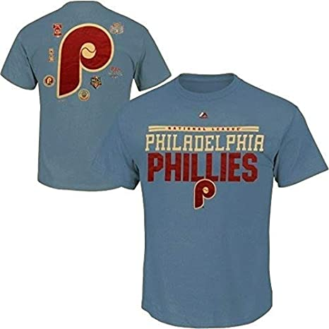 e2c59f5e Majestic Philadelphia Phillies Cooperstown Mens 2 Sided T Shirt Big & Tall  Sizes ...
