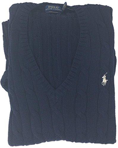 mens Merino Wool Sweater (Navy, M) ()