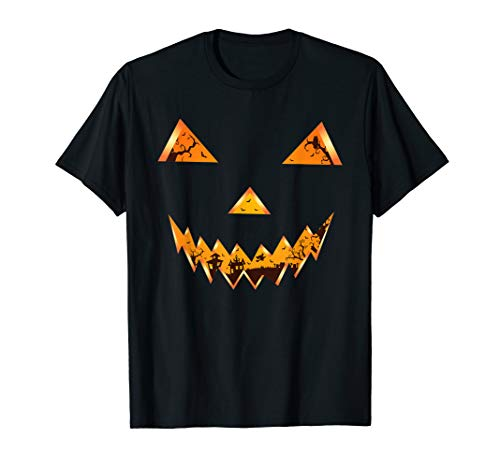 Halloween Witch Faces Pumpkins (Scary Spooky Pumpkin Face Evil Witch Town Halloween Design)